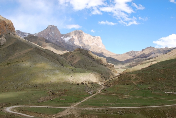 Caucasus mountains Eltyubyu Chegem valley North Caucasus Kabardino-Balkaria beautiful scenery mountain road