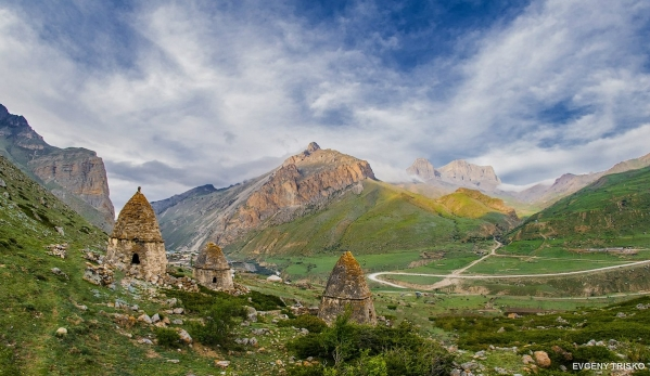 Caucasus mountains Eltyubyu City of the Dead Chegem Kabardino-Balkaria beautiful scenery