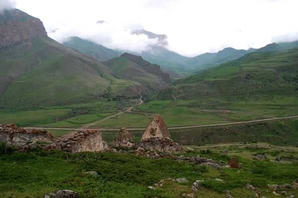 Caucasus mountains Eltyubyu City of the Dead Chegem Kabardino-Balkaria