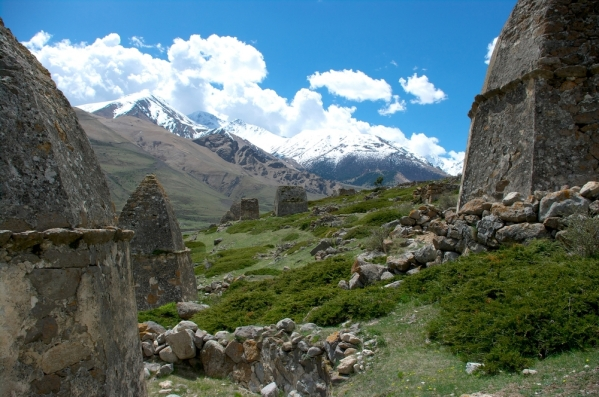 Caucasus mountains Eltyubyu City of the Dead Chegem valley North Caucasus 3