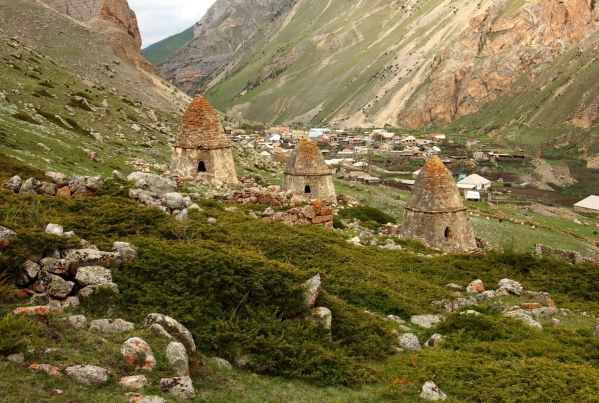 Caucasus mountains Eltyubyu City of the Dead Chegem valley North Caucasus 4