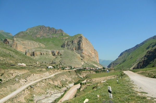 Caucasus mountains Eltyubyu village Chegem valley North Caucasus