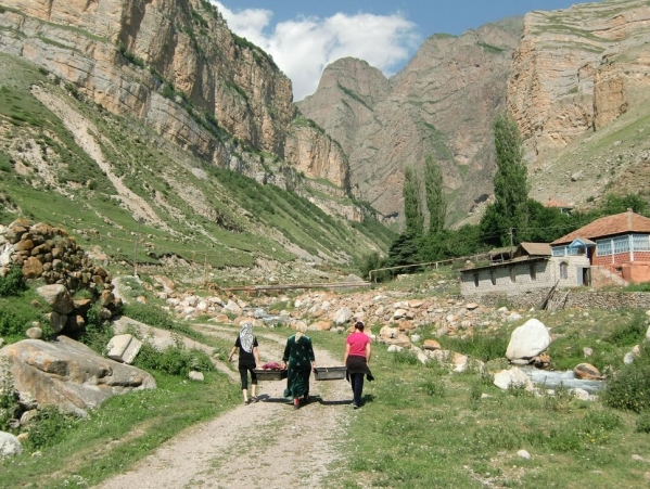 Caucasus mountains Eltyubyu village North Caucasus Kabardino-Balkaria