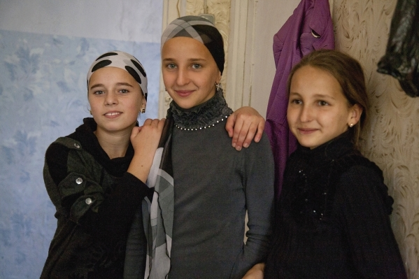 chechen girls in Pankisi Georgia North Caucasus mountains Kist chechen people