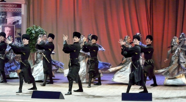 Chechen men traditional dance North Caucasus people nakh Vainakh
