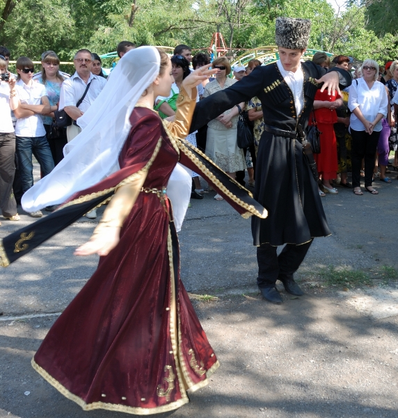 Chechen men women traditional dance North Caucasus people nakh Vainakh chechens
