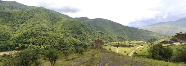 chenty merk Chechen Nakh tower Chechnya North Caucasus mountains
