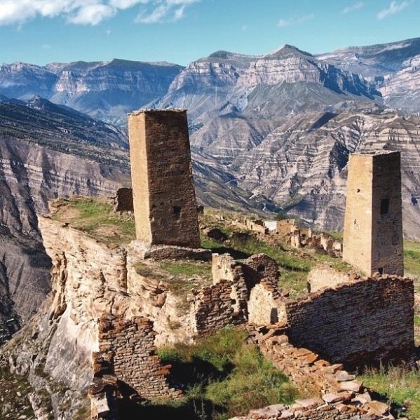 Goor ancient towers Shamilsky Dagestan North Caucasus