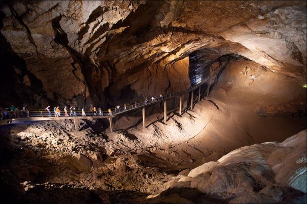New Athos cave bridge . Abkhazia Georgia Iverian mountain Caucasus mountains
