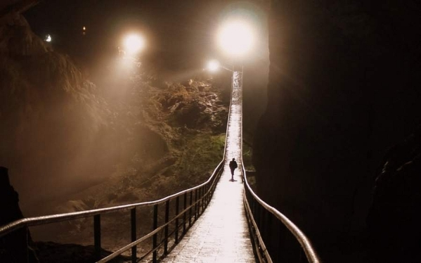 New Athos cave bridge Abkhazia Georgia Iverian mountain Caucasus mountains