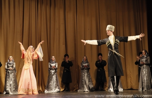 North Caucasus Chechnya dance chechen men women chechens