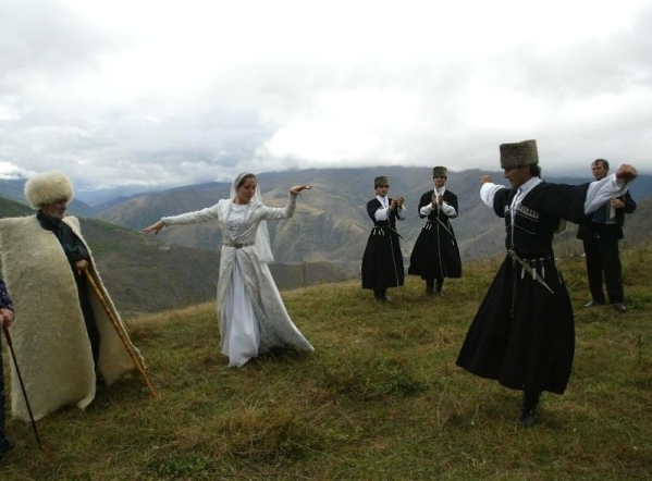 North Caucasus Chechnya dancers chechen men women chechens