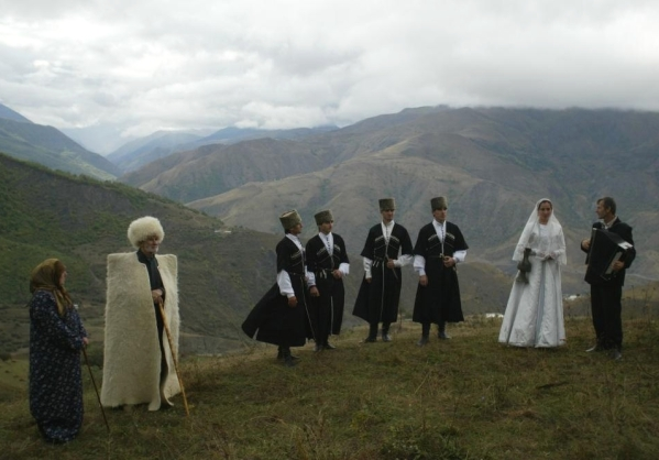 North Caucasus Chechnya people chechen men women chechens