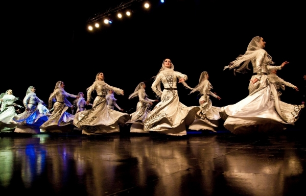 North Caucasus dancers Chechnya chechen women