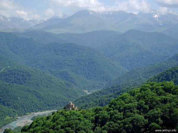 Sentinsky church North Caucasus mountains beautiful landscapes christianity