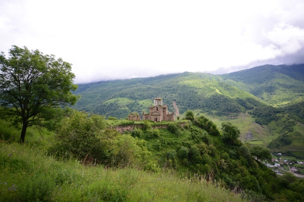 Senty Byzantine church North Caucasus mountains