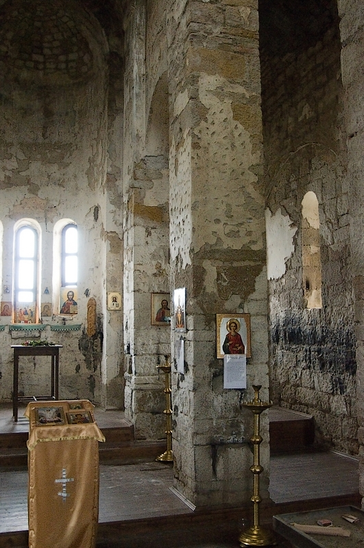 Senty church interior North Caucasus christianity
