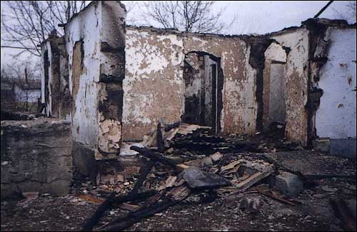Atagi houses burnt down Chechnya Russia operation