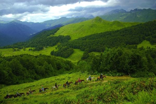 Caucasus mountains Abkhazia Georgia North Caucasus beautiful landscapes