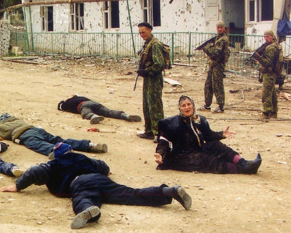 During mop-up operations, civilians fall victims indiscriminately. Photo taken in Dagestan village.