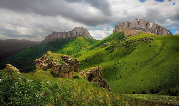 Devil Gate Pass Western Caucasus mountains Caucasian Biosphere Reserve beautiful scenery