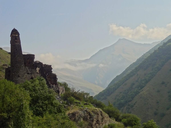 Ikalchu Chechnya castle Caucasus mountains eastern europe