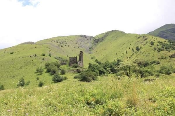 Ikalchu Chechnya Caucasus mountains beautiful landscape