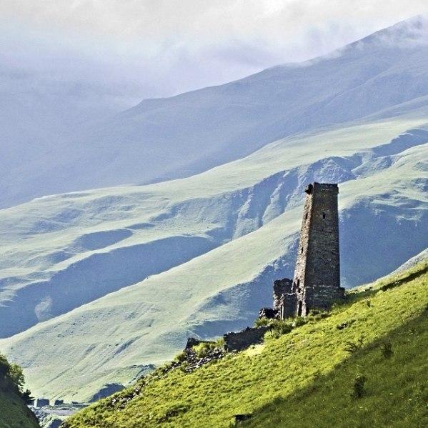 Ikalchu Chechnya Caucasus mountains beautiful scenery nakh vainakh towers