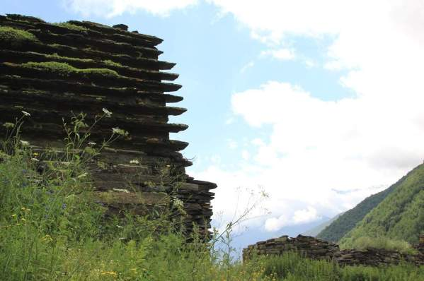 Ikalchu crypt Chechnya Caucasus mountains