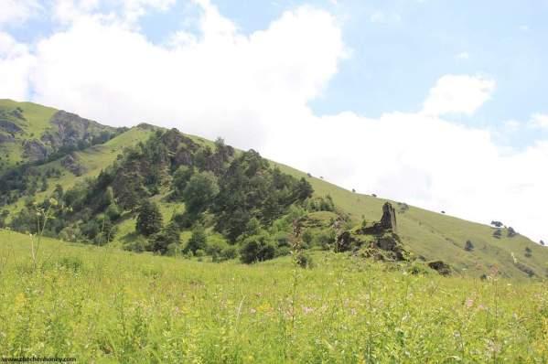 Ikalchu fortress Chechnya Caucasus mountains