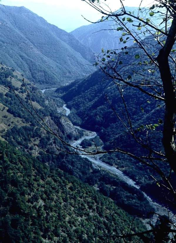 river in Ikalchu Chechnya Caucasus mountains