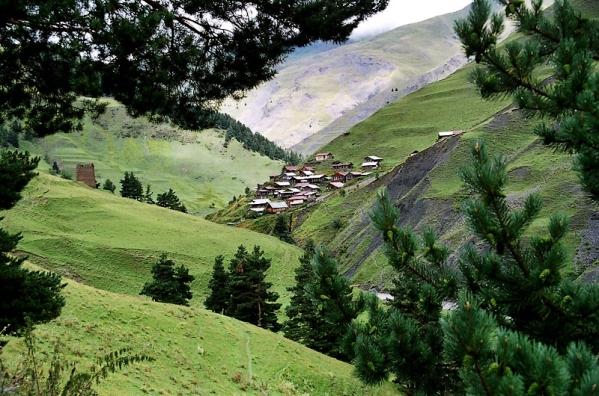 Tusheti Georgia village Caucasus mountains