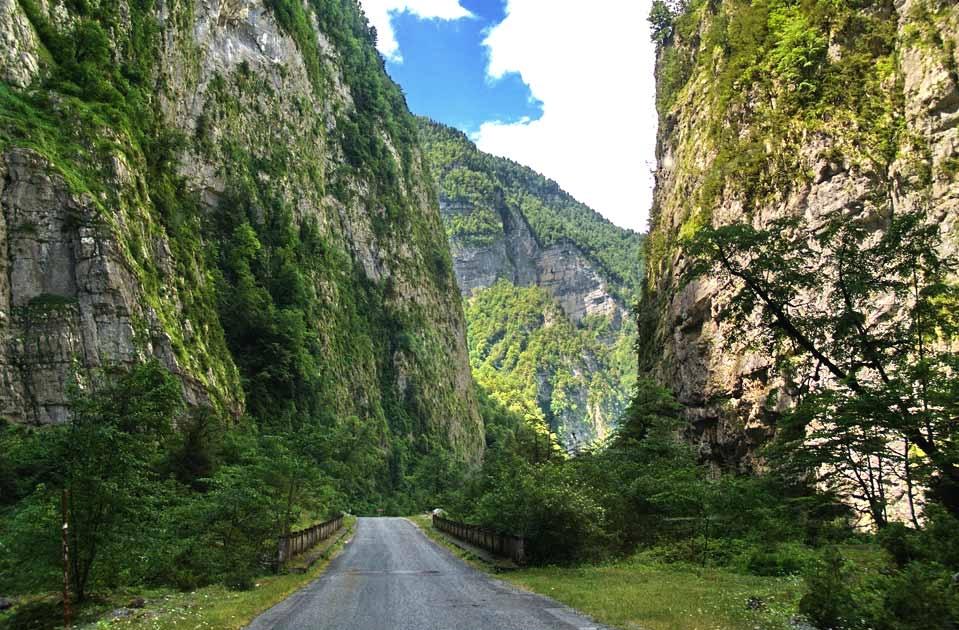 Mountains Of Abkhazia North Caucasus Land