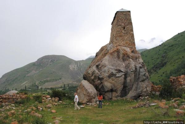 Amirkhana rock tower Kabardino-Balkaria caucasus mountains