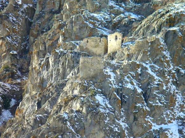 castle fortress Upper Balkaria caucasus mountains