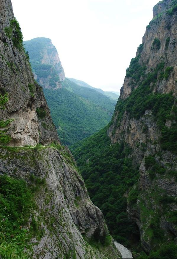 Cherek canyon north caucasus mountains beautiful natural scenery