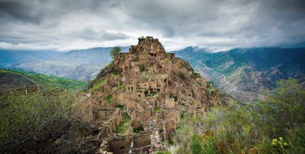 Dagestan Gamsutl ancient avar village Dagestan Caucasus mountains beautiful landscape