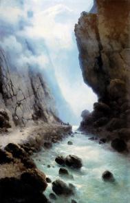 Darial Caucasus mountains Ilya Zankovsky North Caucasus mountains paintings