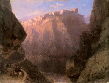 Darial gorge Caucasus mountains