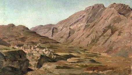 Franz Roubaud - A Mountain Village in the Caucasus
