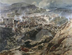 Franz Roubaud - Assault on Gimry Dagestan Caucasus wars