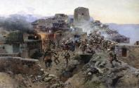 Franz Roubaud - Assault on Gimry Dagestan North Caucasus wars