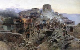 Franz Roubaud - Assault on Gimry Dagestan North Caucasus wars