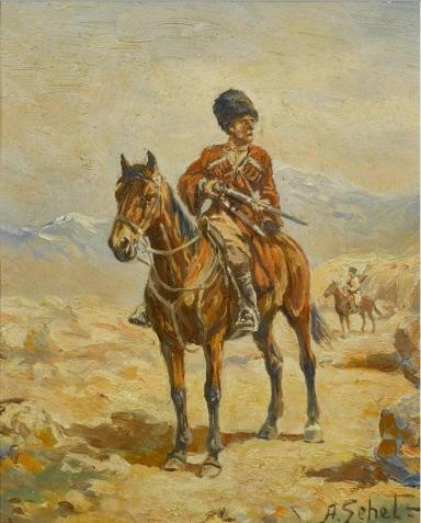 Franz Roubaud Caucasian riders