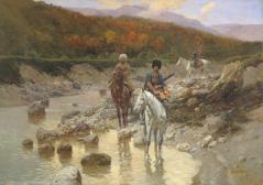 Franz Roubaud North Caucasus riders