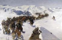 Franz Roubaud - Passage of Prince Argutinskiy through the Caucasian Ridge