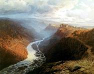 Ilya Mountain landscape North Caucasus paintings
