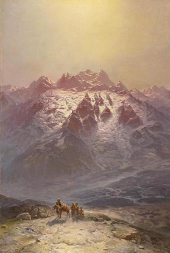 Ilya Nikolaevich Zankovsky Mountain Scene