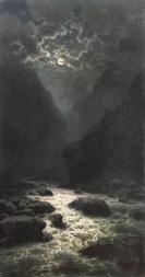 Ilya Zankovsky night North Caucasus paintings