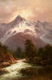 Ilya Zankovsky North Caucasus mountains painting